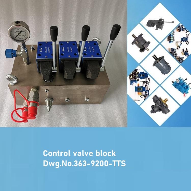 Control valve block Dwg.No.363-9200-TTS-HATCH_COVER