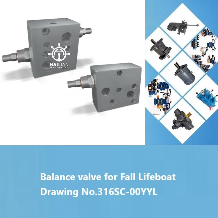 Balance valve for Fall Lifeboat Jiangyin Beihai Drawing No.316SC-00YYL DECK CRANE